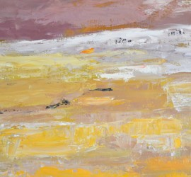 Survol 12  Huile sur toile  70 x 100cm
